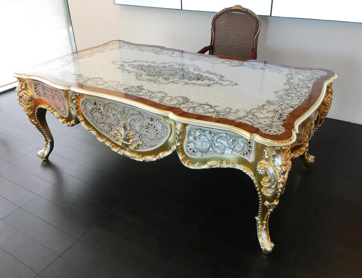 Elegance desk, Luxurious mother-of-pearl desk