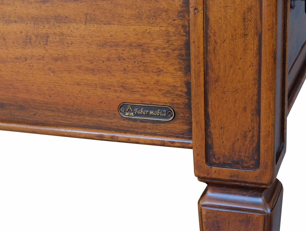 Empoli ME.0947, Walnut desk with 5 drawers, luxury classic style