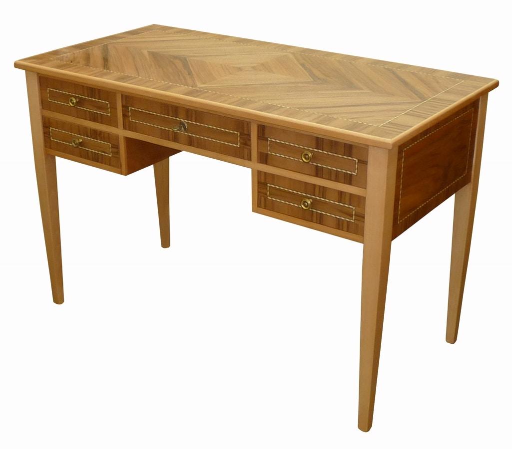 Giulia FA.0039, Louis XVI writing desk with five drawers