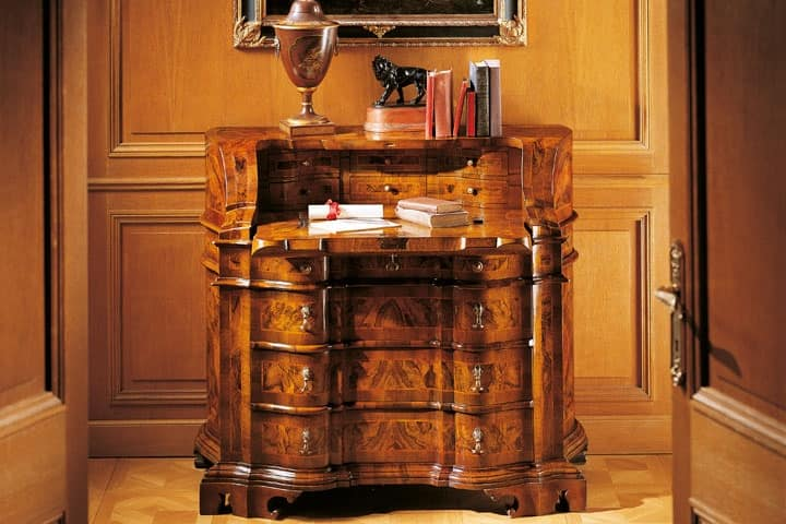 MEMORY Art. 400 / Bureau, Writing desk in '700 Venetian style, with drawers