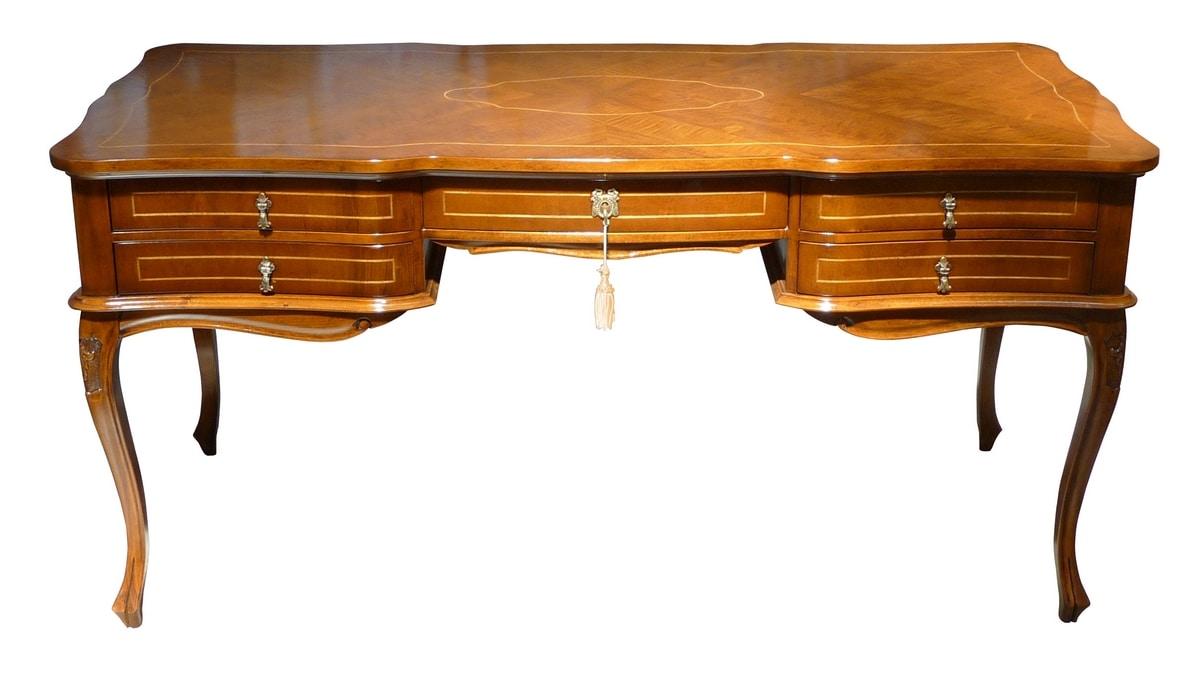 Morgana FA.0032, Wooden writing desk, baroque style