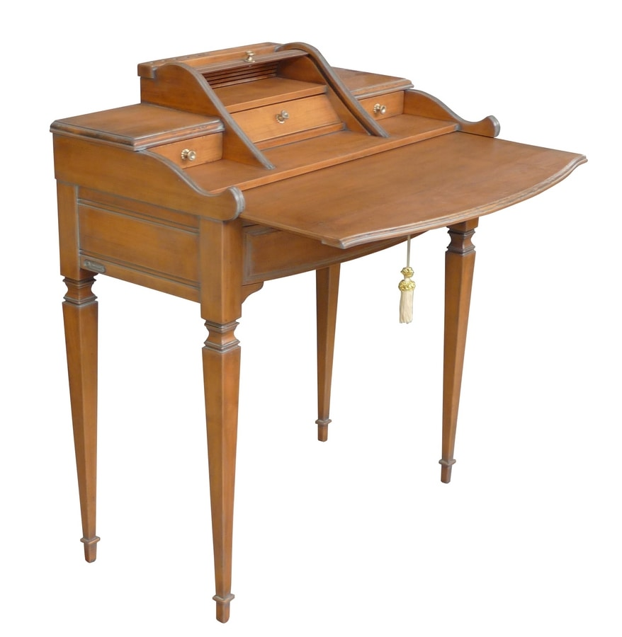 Nicola FA.0162, Desk with shutter, in hand-crafted wood