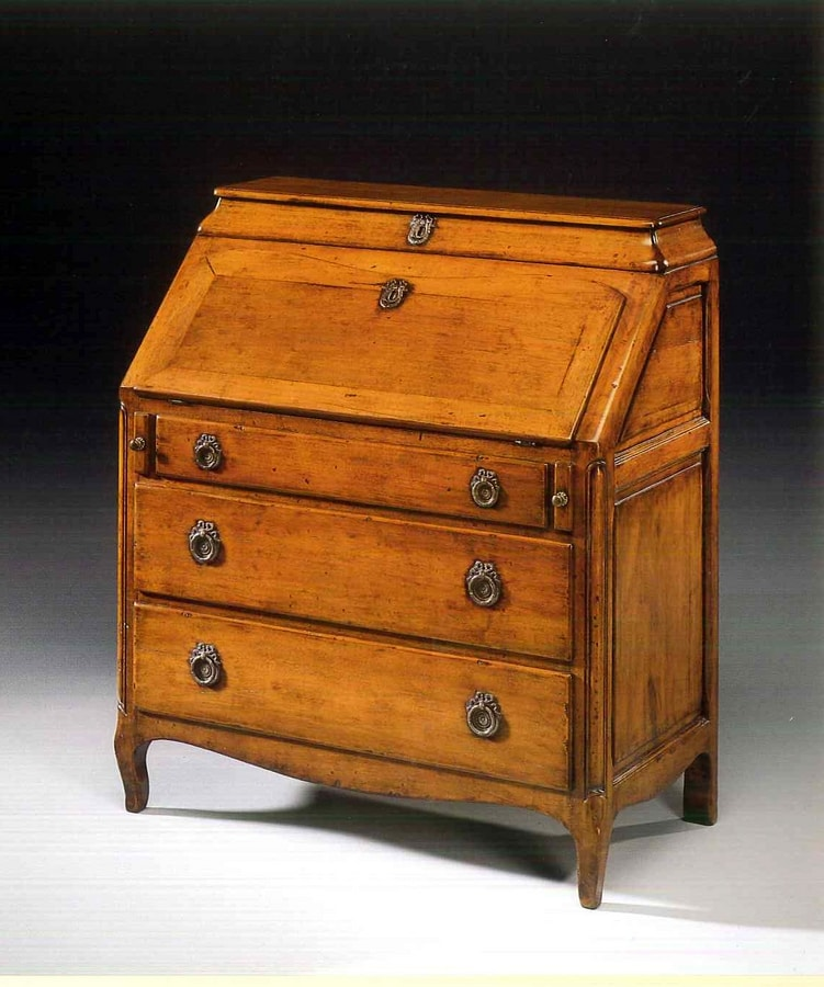Roussillon VS.1046, Provencal bureau with three drawers and opening top