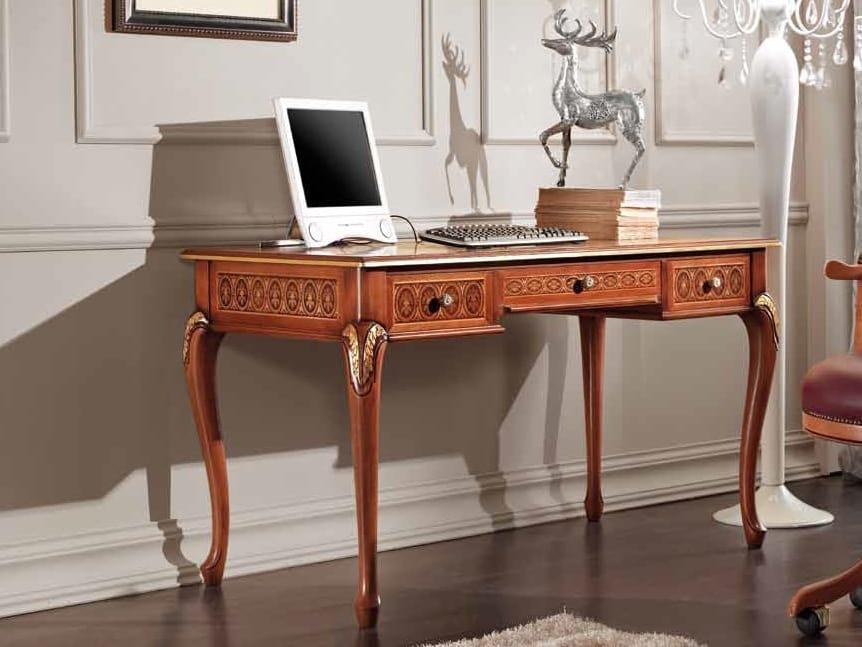 Rubin desk, Classic desk with decorative inlays