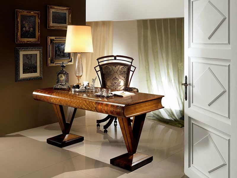 SC17 Libro, Wooden desk, flat-shaped book, classic style