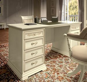 Torriani Home Office desk, Luxurious desk in classic style