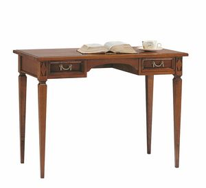 Villa Borghese desk 6376, Wooden desk with drawers, Directoire style