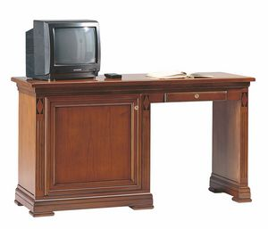 Villa Borghese minibar desk unit left, Desk for hotel rooms, with minibar cabinet