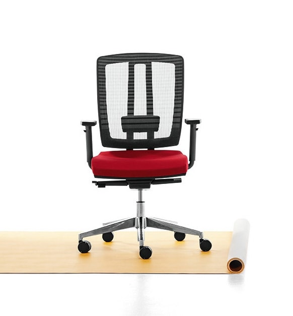 Air One Soft 01, Executive chair padded in flexible polyurethane