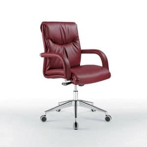 Angel low, Office chair with low back, on wheels