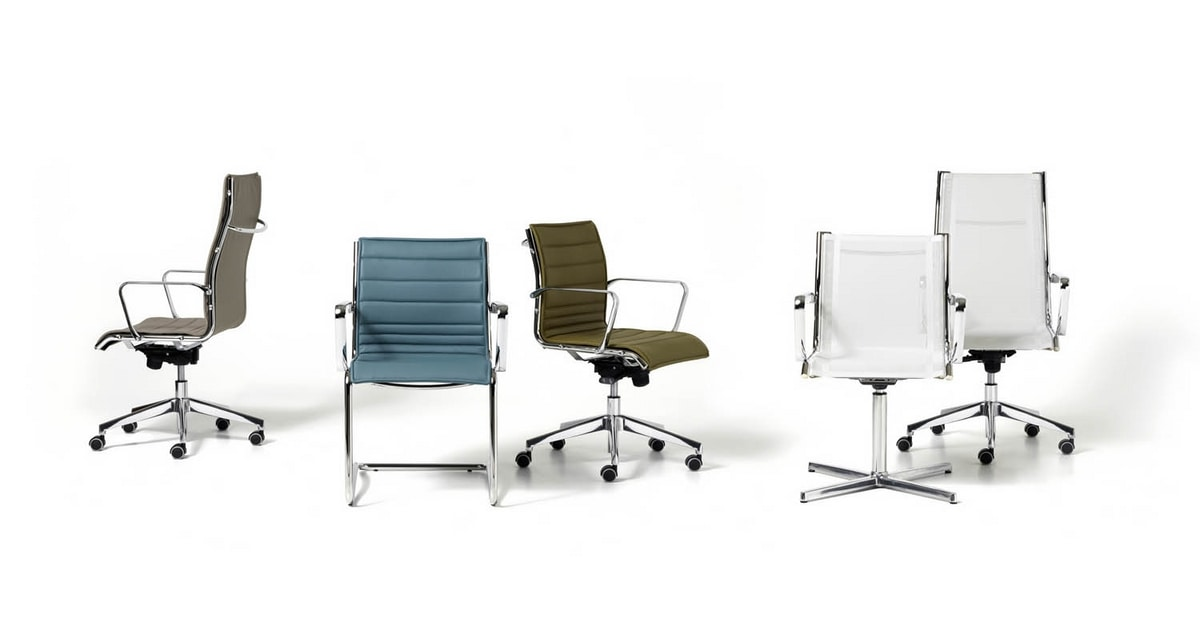 Auckland net, Executive chair, net back, with armrests and wheels