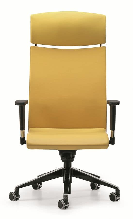 AVIA 4046, Directional chair with headrest and wheels, for office