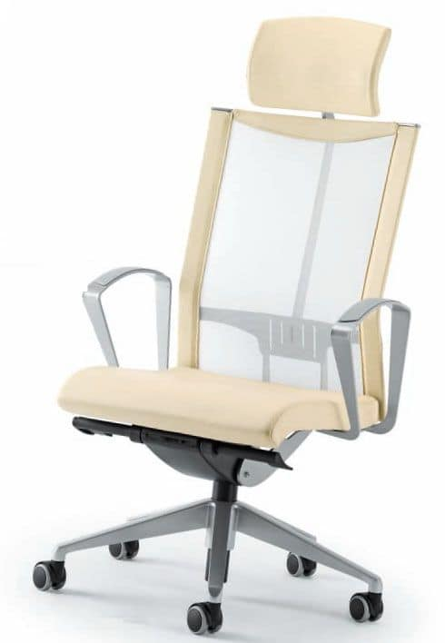 AVIANET 3624 TXC, Modern executive chair with mesh backrest and headrest