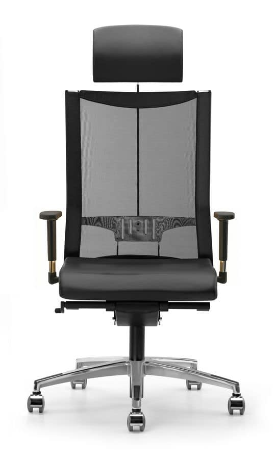 AVIANET 3626, Directional chair, with wheels and mesh back, for offices