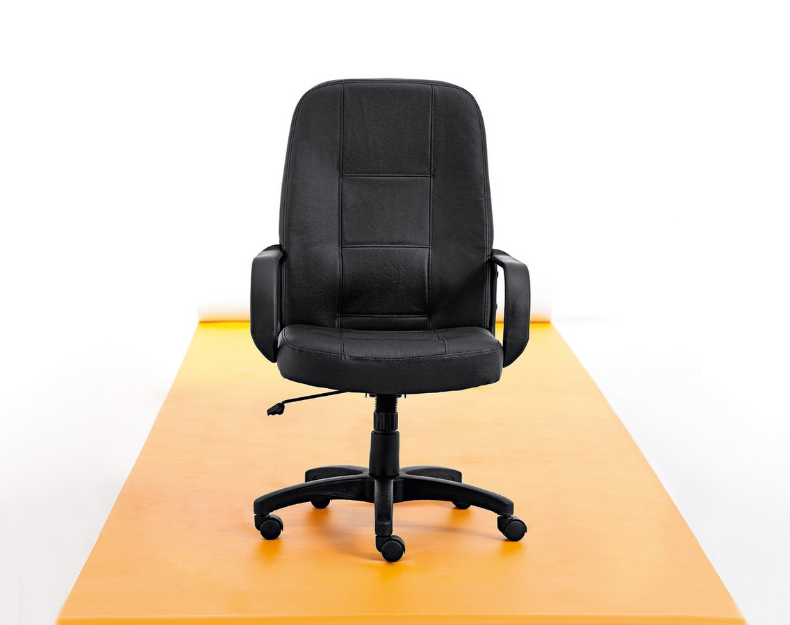 Canasta 01, Office chair with soft shapes
