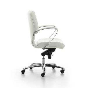 Digital Chrome 02, Directional upholstered chair with medium backrest for office