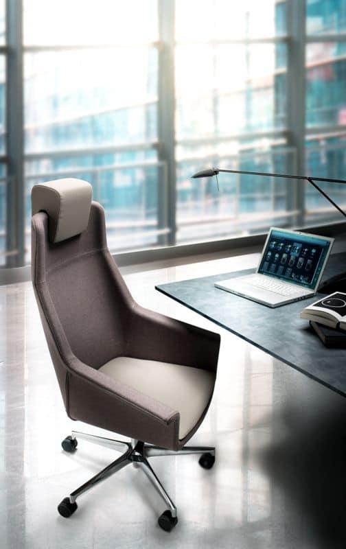 High Dama with headrest, Executive chair, gas lift, headrest and wheels
