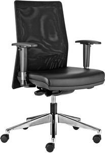 Iris medium, Executive office chair, with mesh backrest