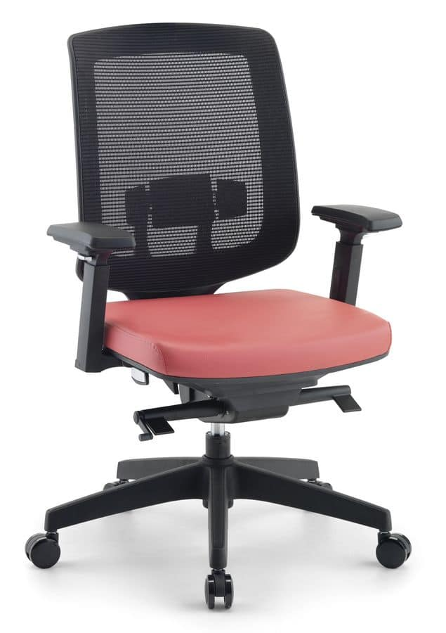 Jack 01, Modern chairs for executive offices, with net