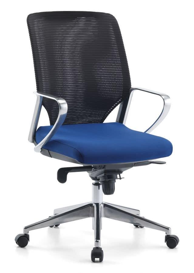 Karian AIR ALU 01, Executive chair, mesh backrest, for office