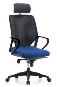 Karina AIR 01 PT, Directional office chair, self-supporting net back