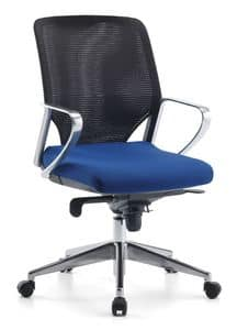 Karina AIR ALU 02, Swivel Executive chair with wheels for office
