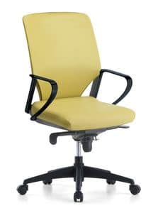 Karina Soft 01, Directional office chair, with swivel wheels