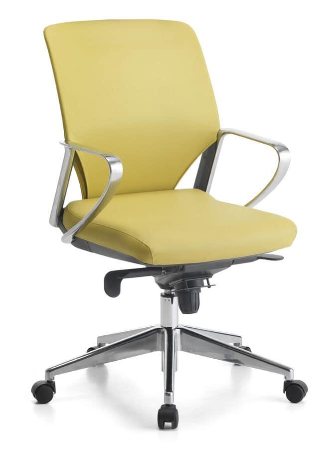 Karina Soft ALU 02, Executive chair, aluminum armrests, for office