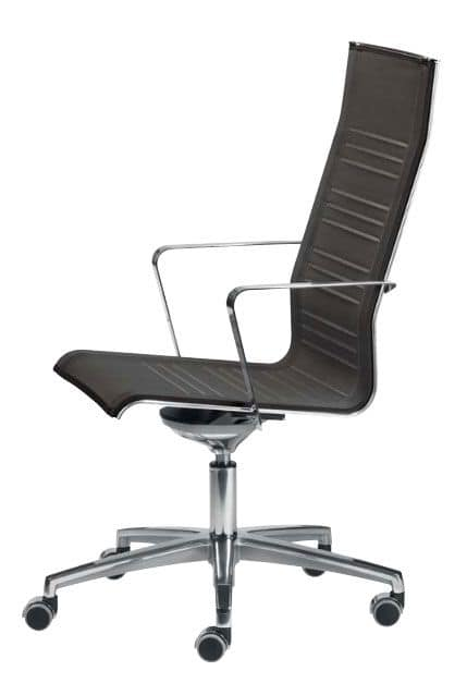 KEYPLUS 3153, Executive chair with chromed base and arms