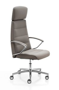 Klivia, Executive armchair, with adjustments embedded in the seat