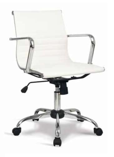 Lab-D, Office chair with low back, with leather cover