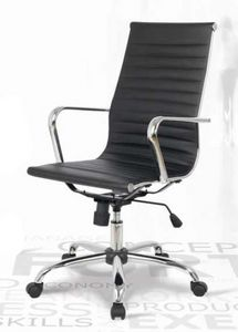 Lab-P, Office leather chair, adjustable in height