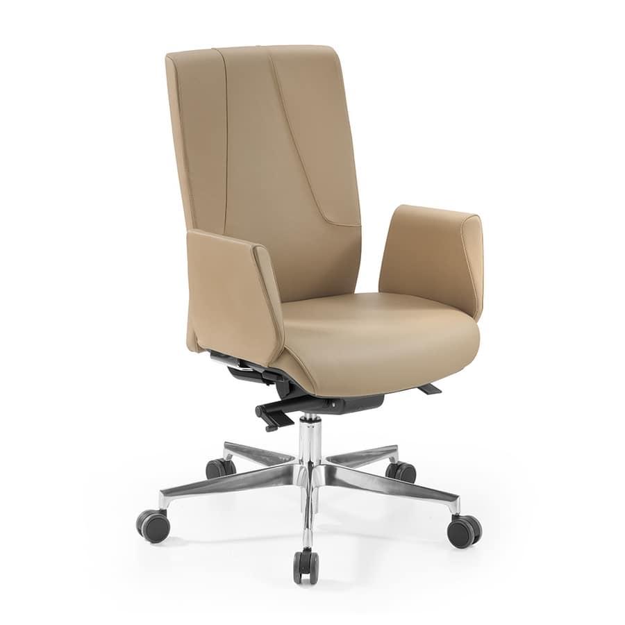Lena, Office armchair with self-regulating tilting mechanism