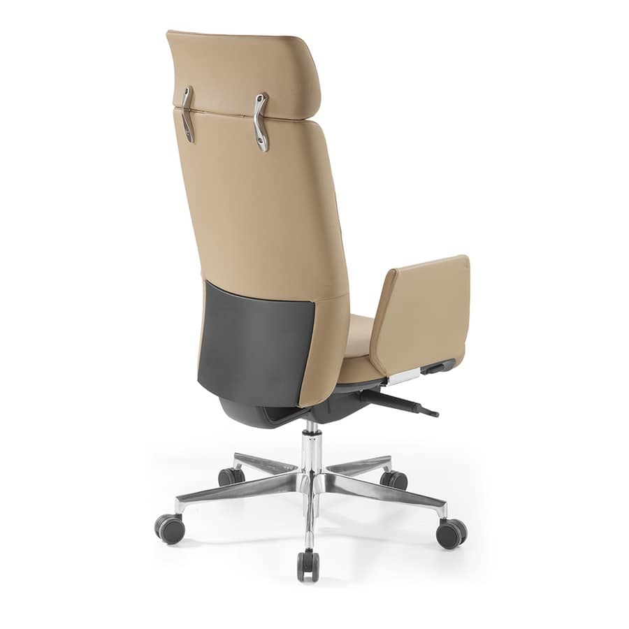Lena with headrest, Office armchair with headrest