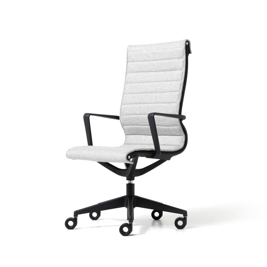 Liberty 5 blades, Executive office chair, ergonomic, in non-deformable mesh