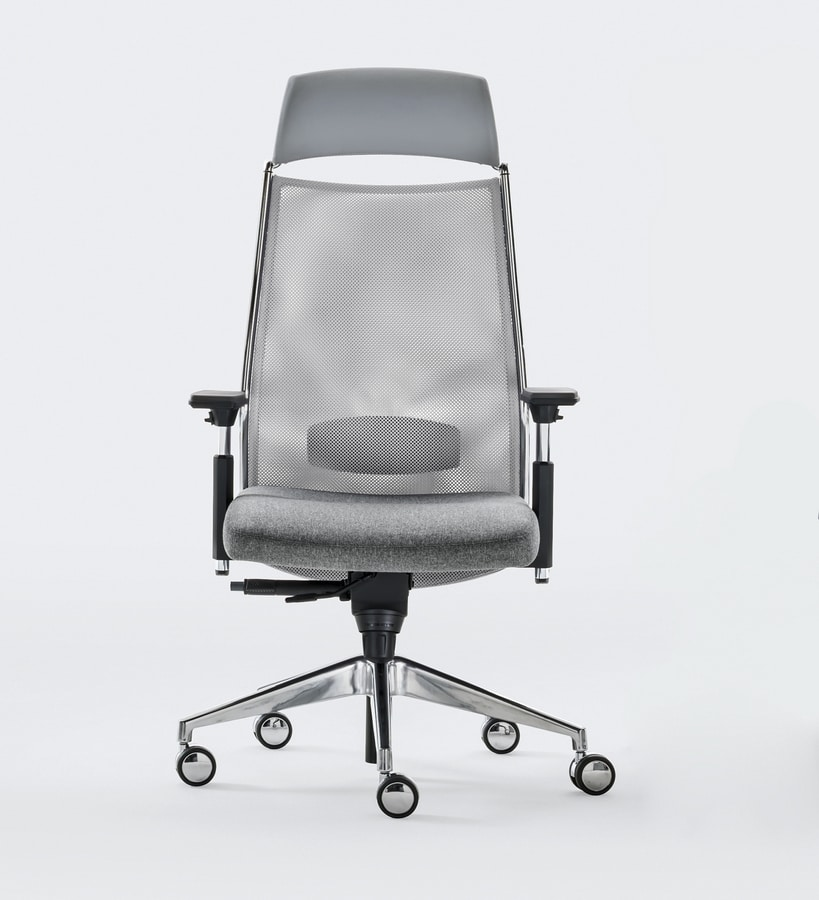 LINK PLUS, Office chair with innovative suspension on the seat