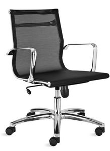 Luxor-R medium, Mesh office chair, with low backrest