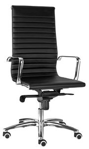 Luxor-T tall, Padded office chair, in black or white imitation leather