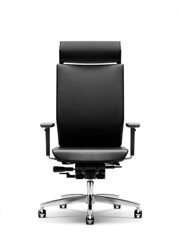 office chair adjustable armrests chrome base with wheels idfdesign