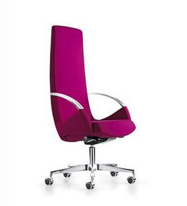 Moon, Office chair on castors, high back, elegant line