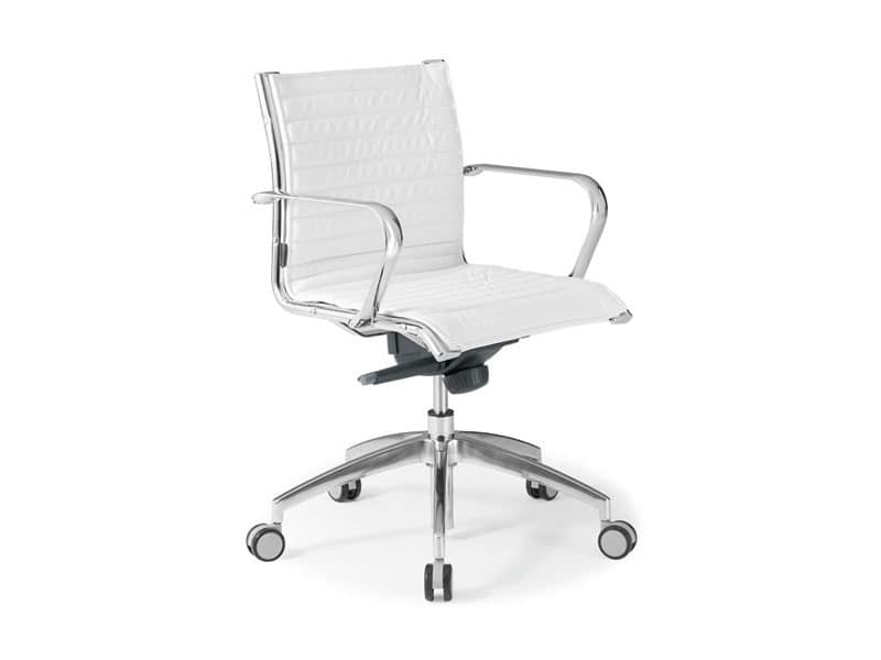 Origami IN executive 70120M, Office chair in leather with chromed steel structure
