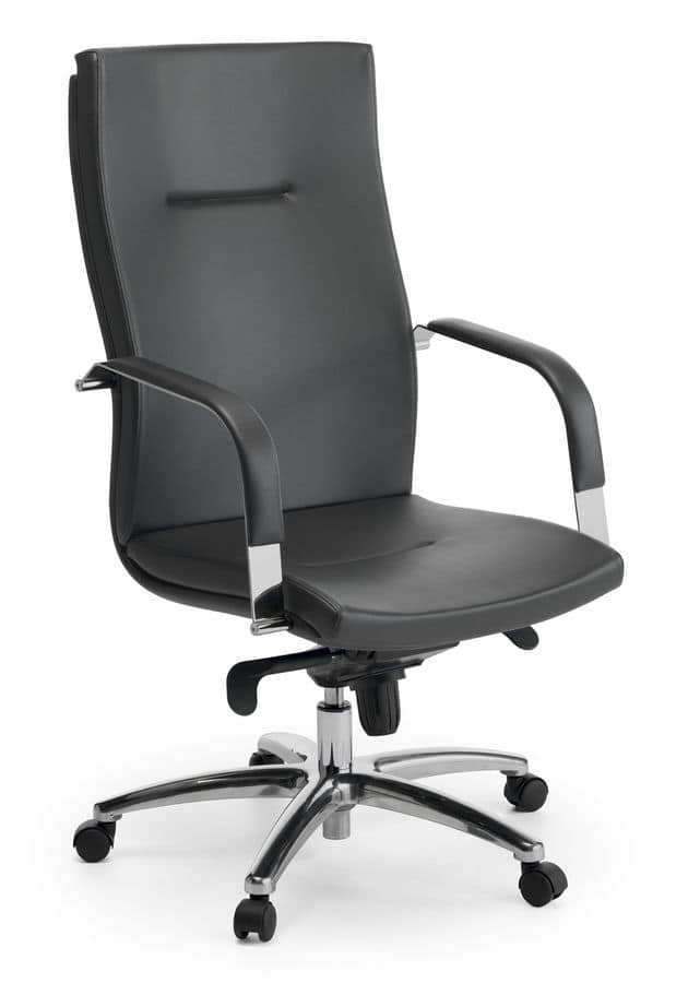 Ottawa 01, Executive chair with high backrest for office