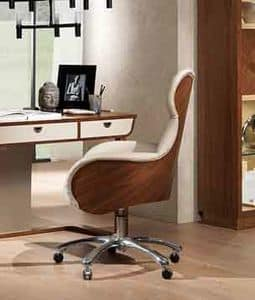 PO59 Cartesio armchair, Swivel chair for offices in classic contemporary style