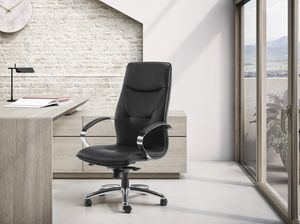 SADIA PLUS, Directional armchair, adjustable in height, with wheels