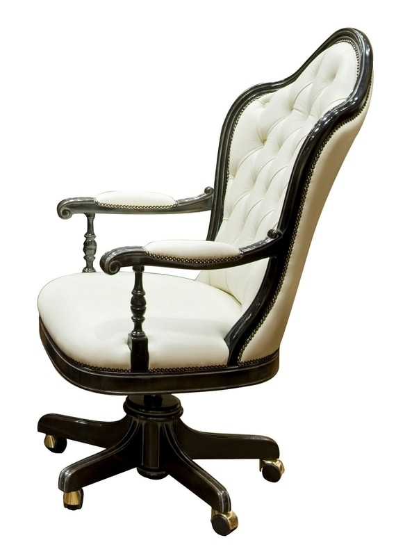Talla ME.0986, Swivel chair with wheels, in beech, for luxury offices