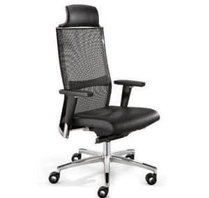 TITANIA 2863, Executive office chair, backrest in elastic mesh