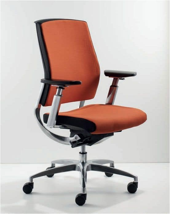 Uf 451 B Modern Executive Chair With Adjule Armrests