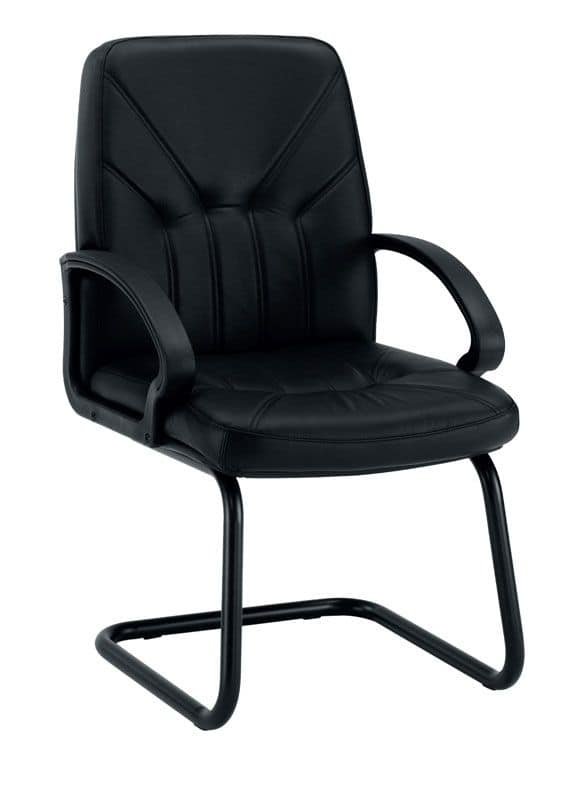 UF 501 / S, Sled chair with upholstered seat, Upholstery options