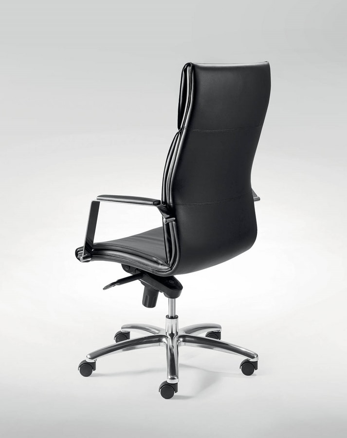 UF 507 A, Directional chair with multiblock mechanism and wheels