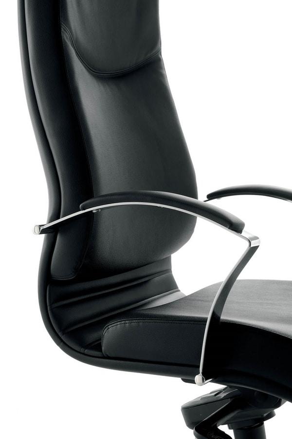 UF 530 / A, Executive chair, high back, wheels, tilt mechanism